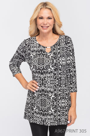 Creation Top/Tunic w/Gold Detail - A967 - Print 305 - The Coach Pyramids