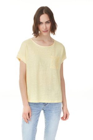 Charlie B Spring/Summer 2021 - Linen Top - C1269 - Mango - The Coach Pyramids
