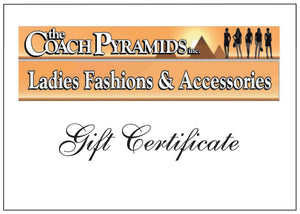 Gift Certificate $100 - The Coach Pyramids