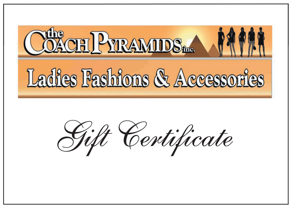 Gift Certificate $75 - The Coach Pyramids