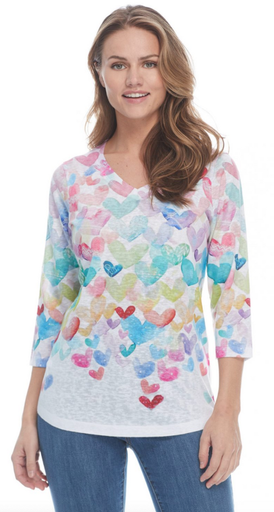 French Dressing Jeans Hearts Top 1032451 - The Coach Pyramids