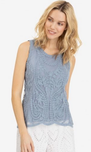 Sale  Tribal 5903O Mesh Embroidered Top - The Coach Pyramids
