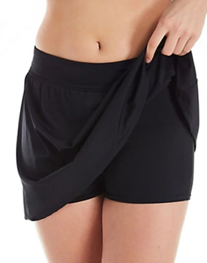 Trimshaper 6527006 Black Skort Swim Botttom - The Coach Pyramids