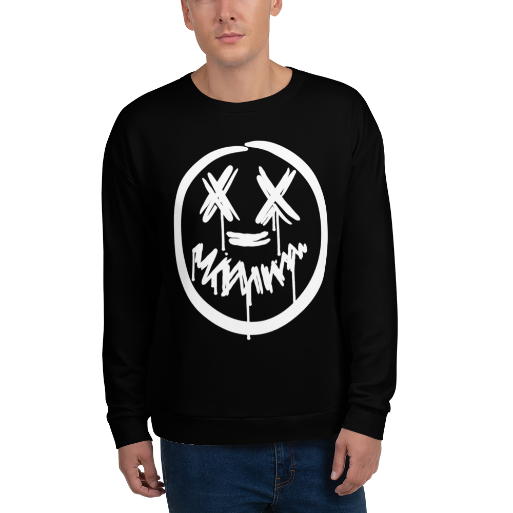"""Big Face"" Black Sweatshirt"