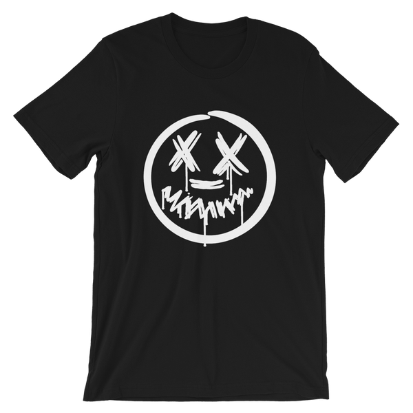 """Big Face"" Black Short-Sleeve T-Shirt"