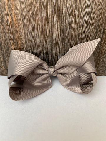Hair Bow Gray