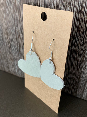 Small Leather Heart-Shaped Earrings