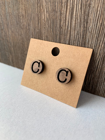 """C"" Stud Earrings"