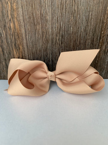 Hair Bow Khaki