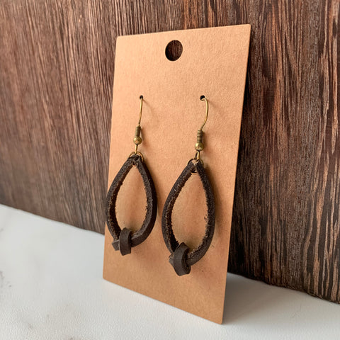 Dark Brown Knot Earrings