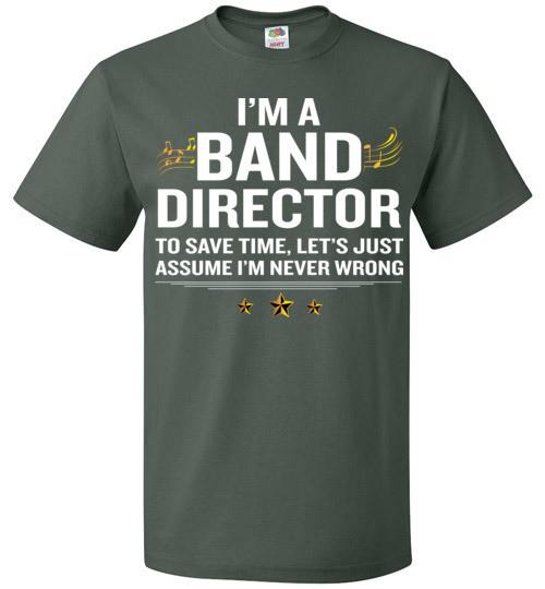 Band Director T Shirt Funny Quote Gold Awesome Gift