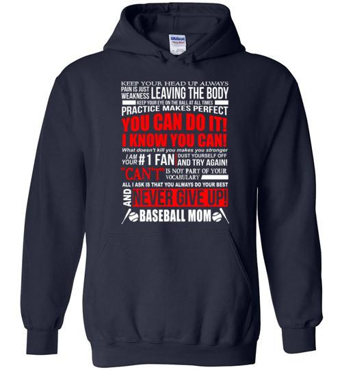 BASEBALL MOM, NEVER GIVE UP