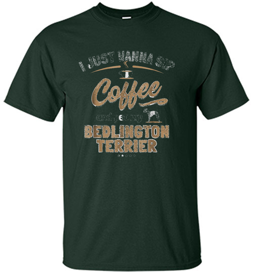 Bedlington Terrier Lover - Dog And Coffee Enthusiast Gift - Shirt
