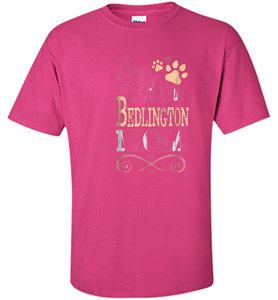 Stay at Home Bedlington Terrier Dog Mom T-shirt Women - Shirt