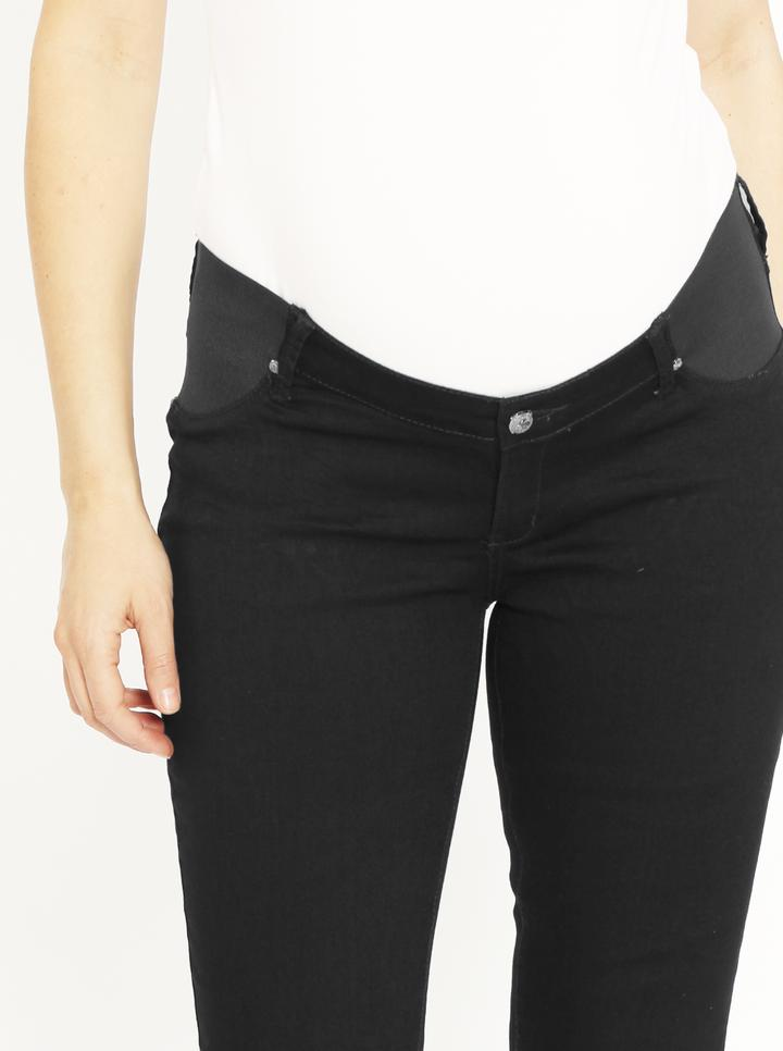 Angel Maternity Comfortable Stretch Slim Jeans - Black