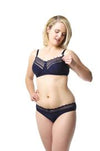 Hotmilk 'Show Off' Navy (Pink Champagne) Nursing Bra - Wirefree