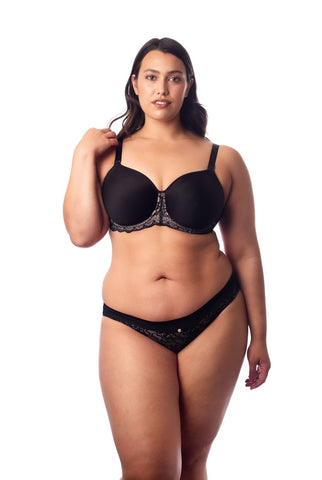 Hotmilk 'Obsession' Black Contour Nursing Bra - Flexi Underwire