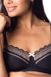 Hotmilk 'Show Off' Jet Black Nursing Bra - Wirefree