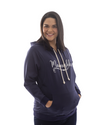 Mamushka Active Navy Hoodie Maternity & Nursing with White Print