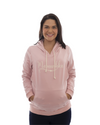 Mamushka Active Rose Gold Hoodie Maternity & Nursing with White Print