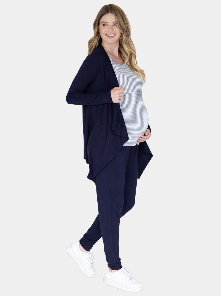 "Angel Maternity ""Street to Home"" Maternity 3 Piece Relax Outfit - Navy"