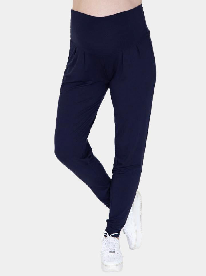 Angel Maternity Comfortable Bamboo Maternity Pants - Navy