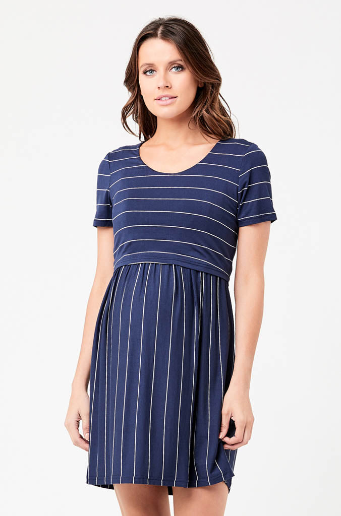 Ripe Maternity Crop Top Nursing Dress - Indigo