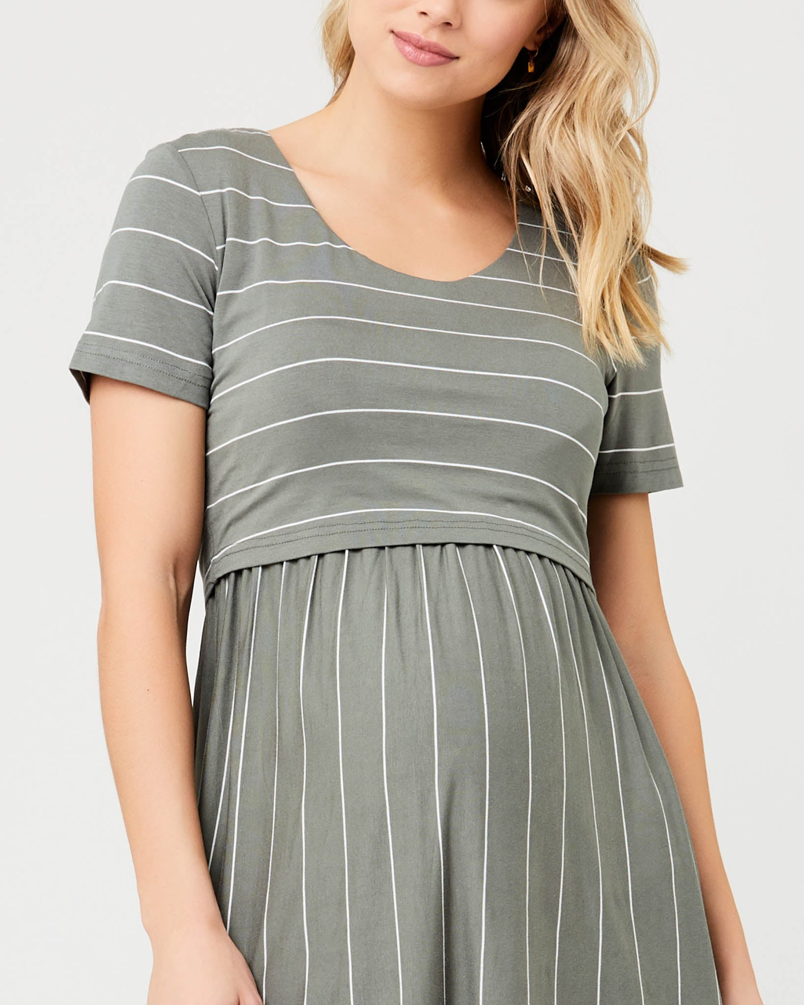 Ripe Maternity Crop Top Nursing Dress - Olive