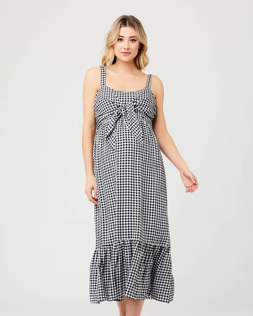 Ripe Maternity 'Gingham' Nursing Dress