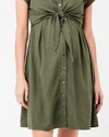 Ripe Maternity Colette Tie Up Dress - Olive