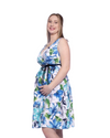 Szabo 'Sunray' Dress in Summer Floral on White