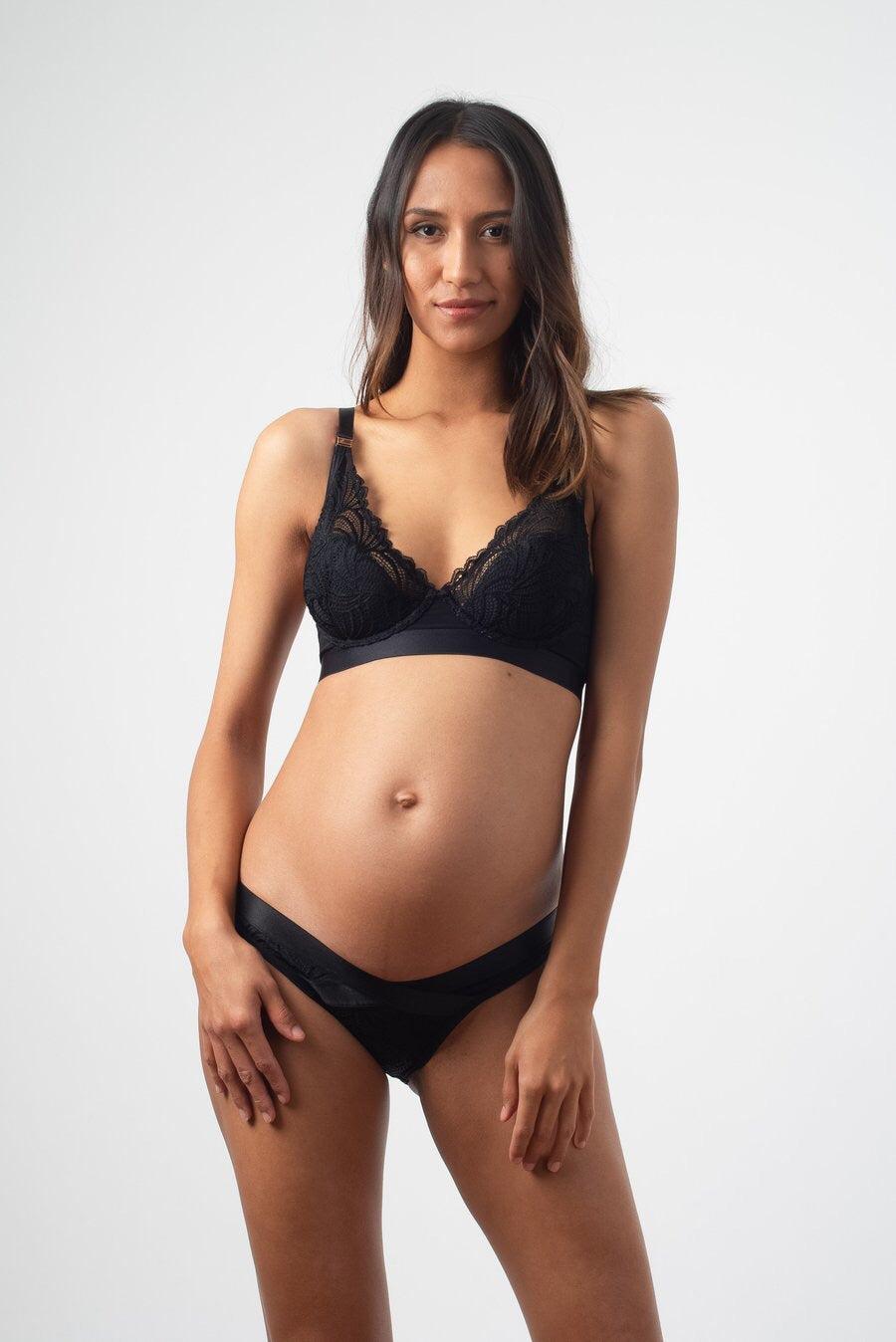 Hotmilk Project Me 'Warrior' Plunge Black Contour Nursing Bra - Flexi Underwire