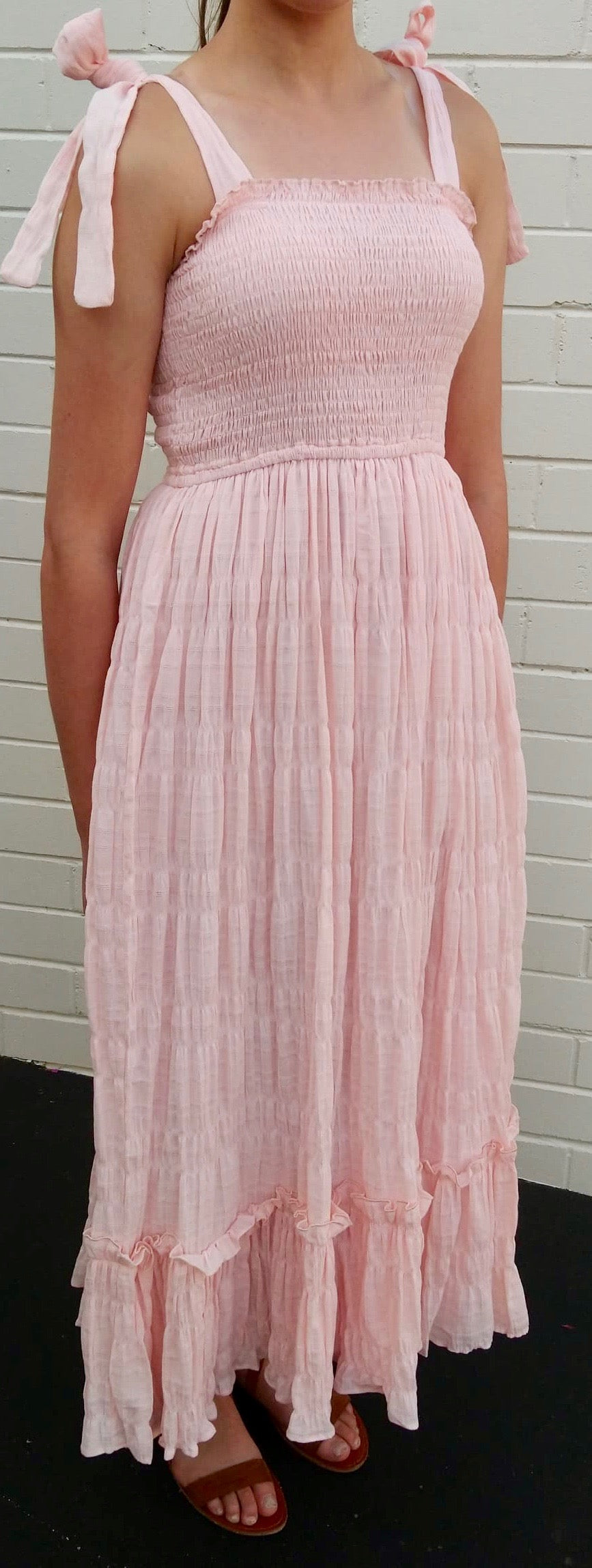 'Clarabelle' Dress in Peach