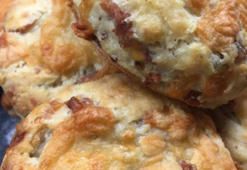 Bacon Sausage Scones