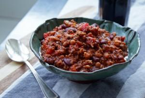 60 Minute Culinary Fight Club Bacon Sausage Chili