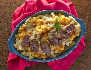 Bacon Sausage Mac n' Cheese