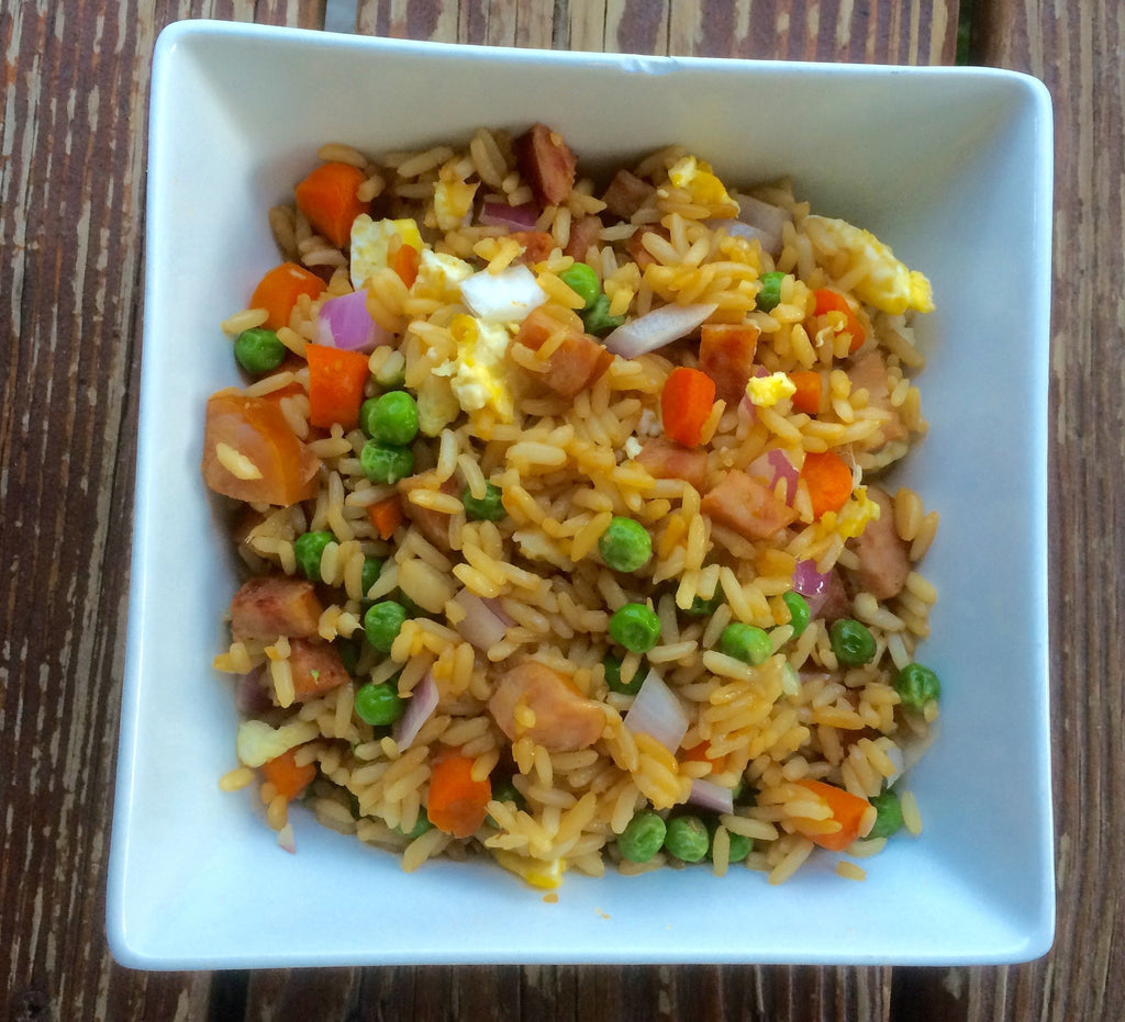 Bacon Sausage Fried Rice
