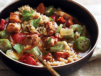 Bacon Sausage & Chicken Gumbo