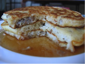 Buttermilk Maple Bacon Sausage Pancakes