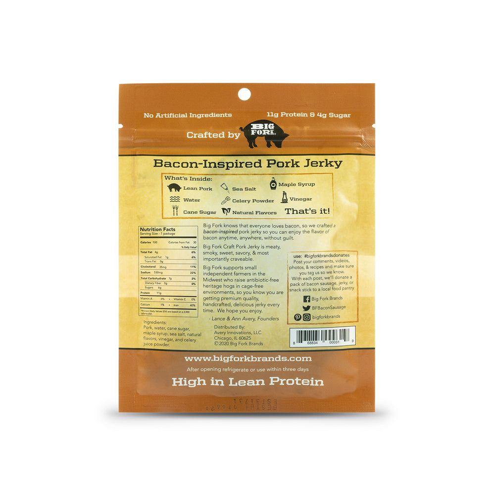 Craft Pork Jerky - 1 Case (8 X 2.25 oz. packs)