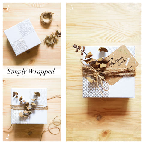 Simply wrapped box with leaves