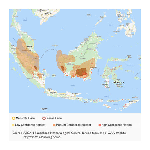 Map of hotspots in Southeast Asia