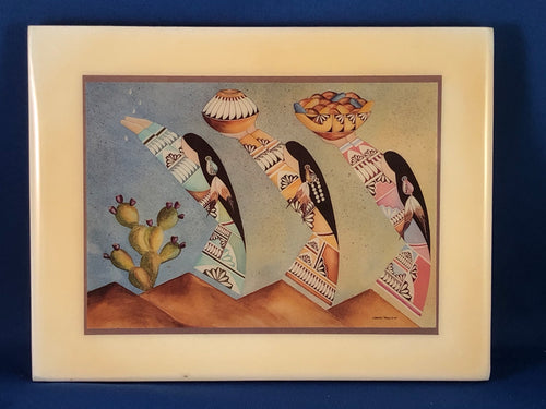 Lawrence Vargas 1990 Harvest Maidens on Tile