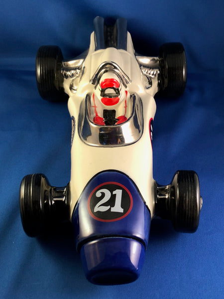 1970 Ezra Brooks #21 Race Car Decanter Indy Racing Car