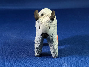 Blue Buffalo Pottery Figurine