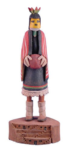 Hopi Yellow Corn Mana Kachina by Ted Francis