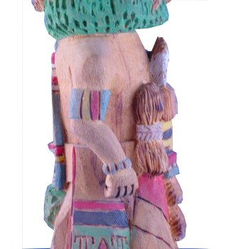 Vintage Hopi Home Dancer and Mana Kachina by Fred Chapella