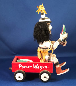 Navajo Kashari Kachina in Red Power Wagon