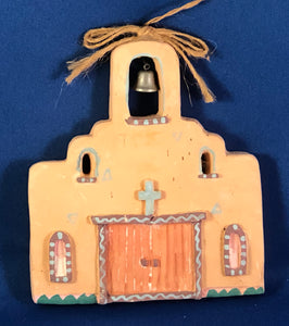 Mission Adobe Christmas Ornament