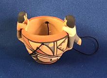 Load image into Gallery viewer, Christmas Ornament Pottery Bowl with 2 figures